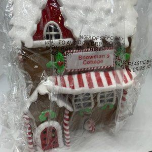 """Choice of Illuminated 9"""" Gingerbread Cottages"""
